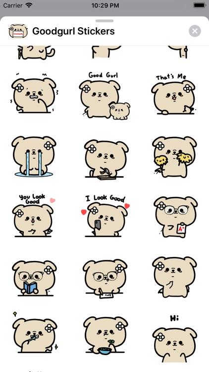 Goodgurl Stickers: Aminals screenshot-3