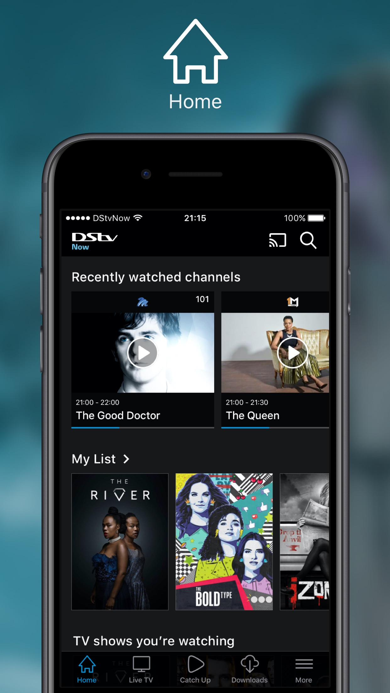 DStv Now: Watch live on the go Screenshot