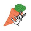 Wonder bunny sticker