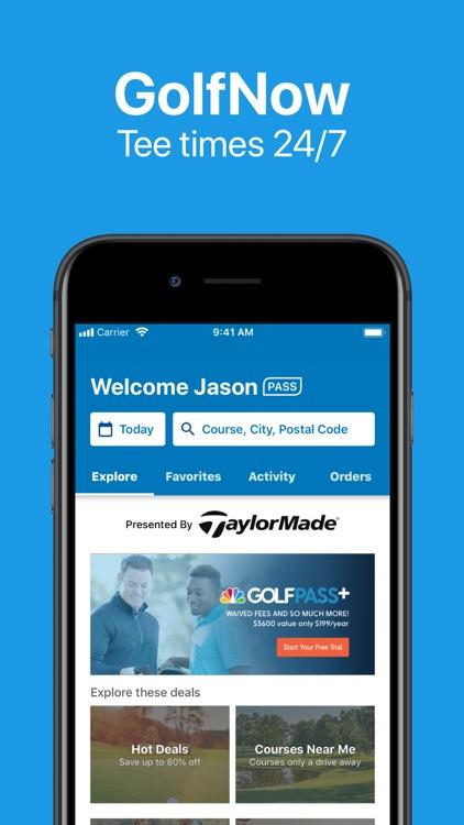 GOLFNOW Book TeeTimes Golf GPS screenshot-0