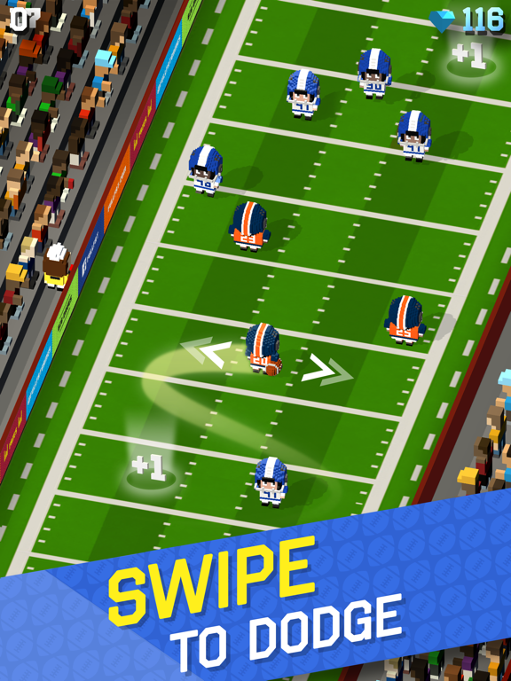 Blocky Football - Endless Arcade Runner screenshot