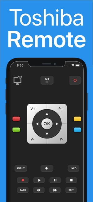 Toshy : remote for toshiba tv on the App Store