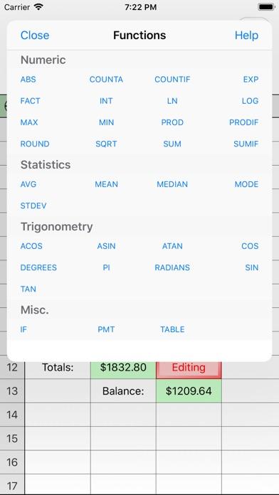 Utility Spreadsheet screenshot four