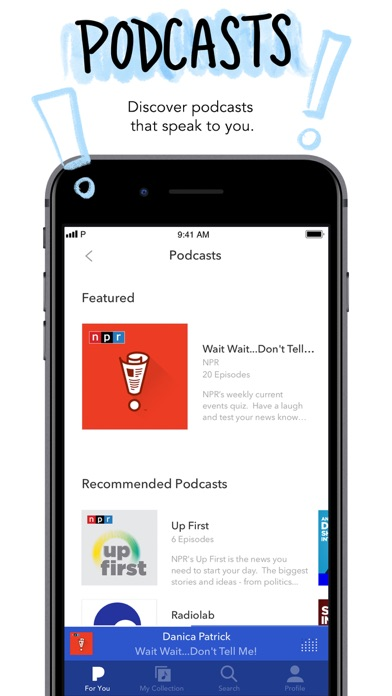 Screenshot of Pandora: Music & Podcasts App