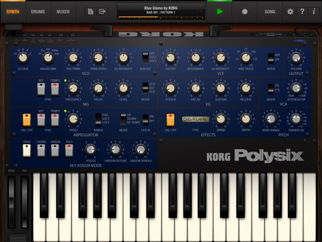 KORG iPolysix for iPad Screenshot