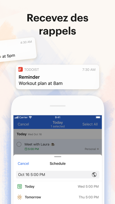 Screenshot #3 pour Todoist : To-do list et rappel