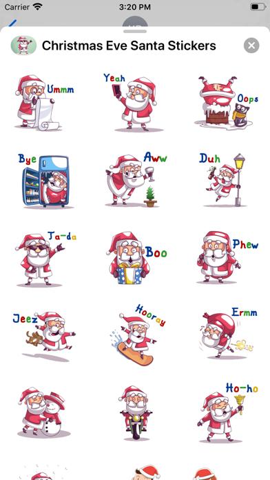Christmas Eve Santa Stickers screenshot 1