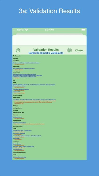 Bookmarks Validator screenshot-3