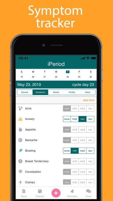 iPeriod Period Tracker + Screenshots