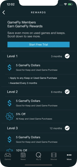 GameFly on the App Store