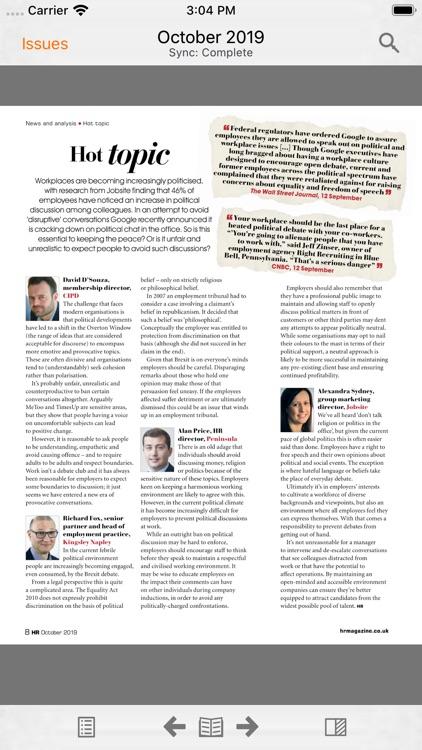 HR Magazine digital edition screenshot-4