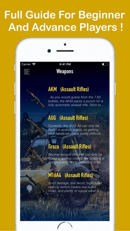 Pro PUBG Guide: MOBILE-PC-PS4 screenshot-4