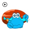 Animated Blue Crab Stickers app description and overview