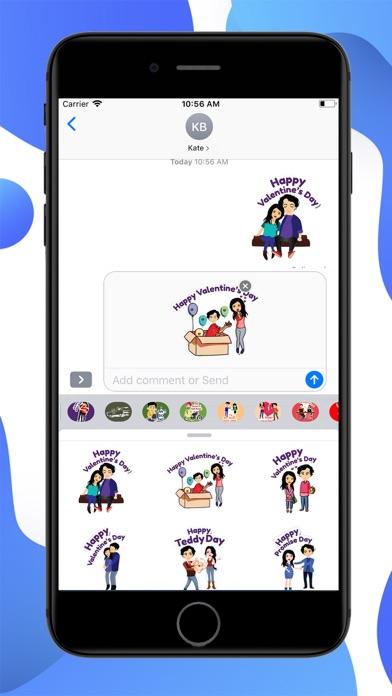 Valentine Special Stickers screenshot 2
