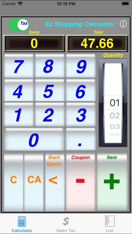 Ez Shopping Calculator screenshot-4