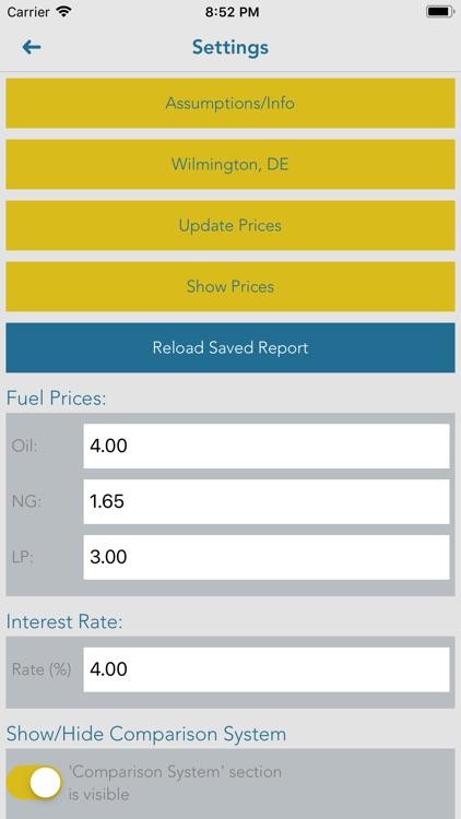 SmartHeat savings estimates