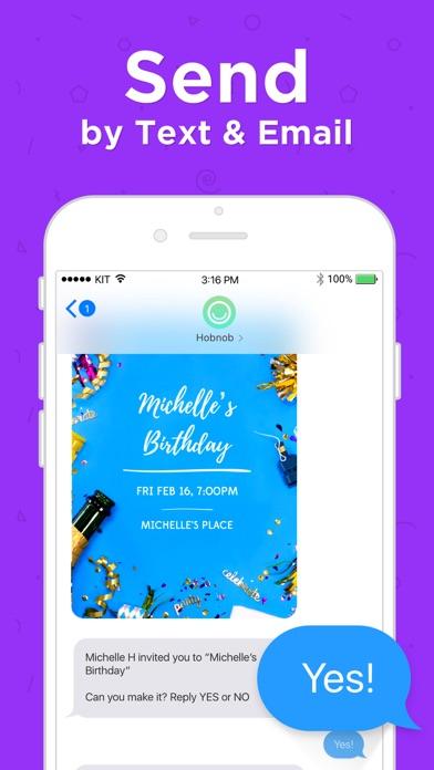 Hobnob Invitation Maker & RSVP Screenshot