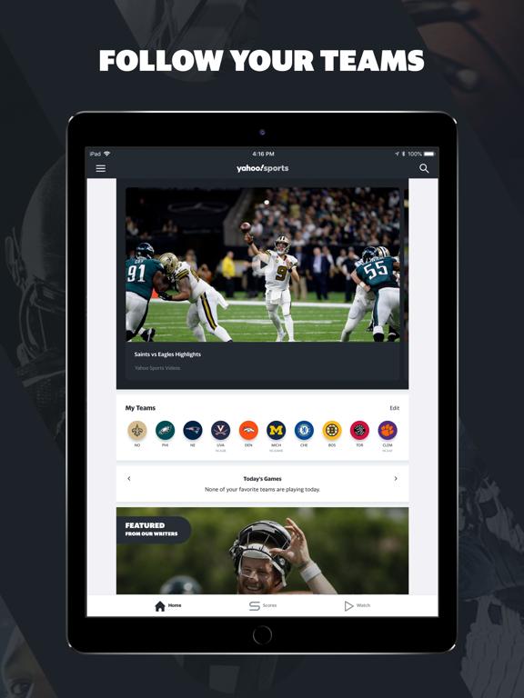Yahoo Sports: Watch Live NFL-ipad-0
