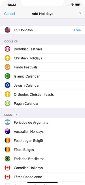 Holidays 2019 on the App Store