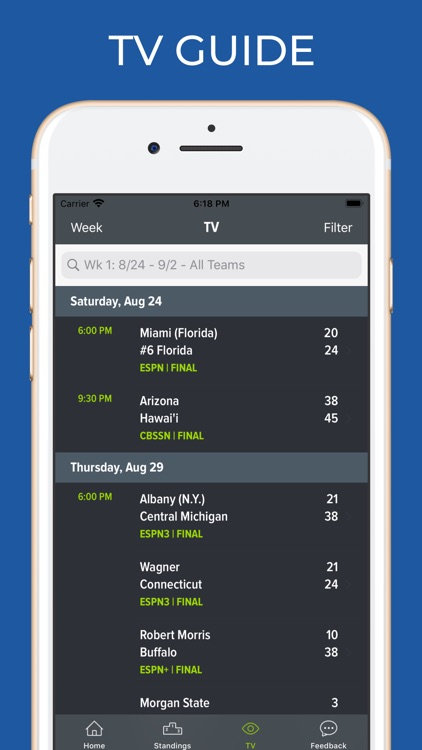 Georgia Football Schedules screenshot-6