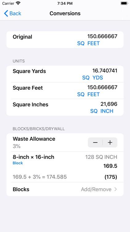 Construction Calculator++ screenshot-5