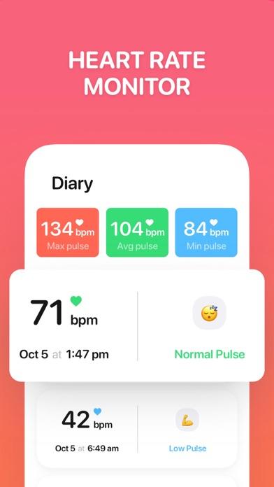 Pulse Beat. Heart Rate Monitor Screenshot