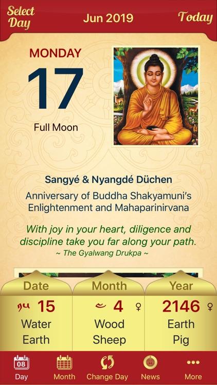 Drukpa Lunar Calendar screenshot-7