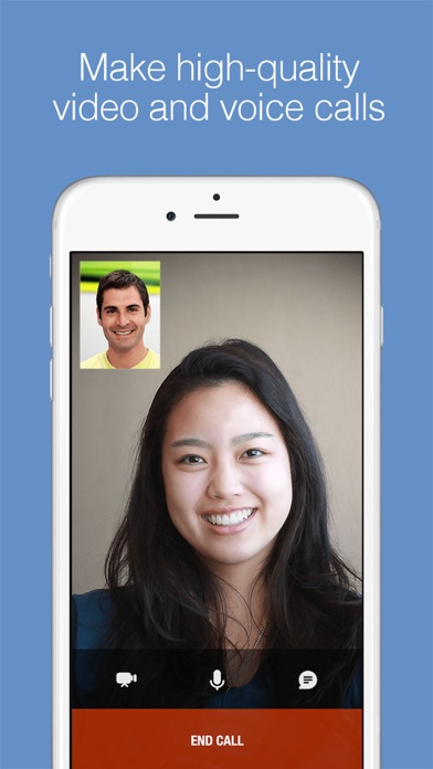 imo video calls and chat HD app image