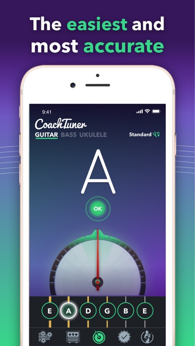 Guitar Tuner Easy tune chords Screenshot