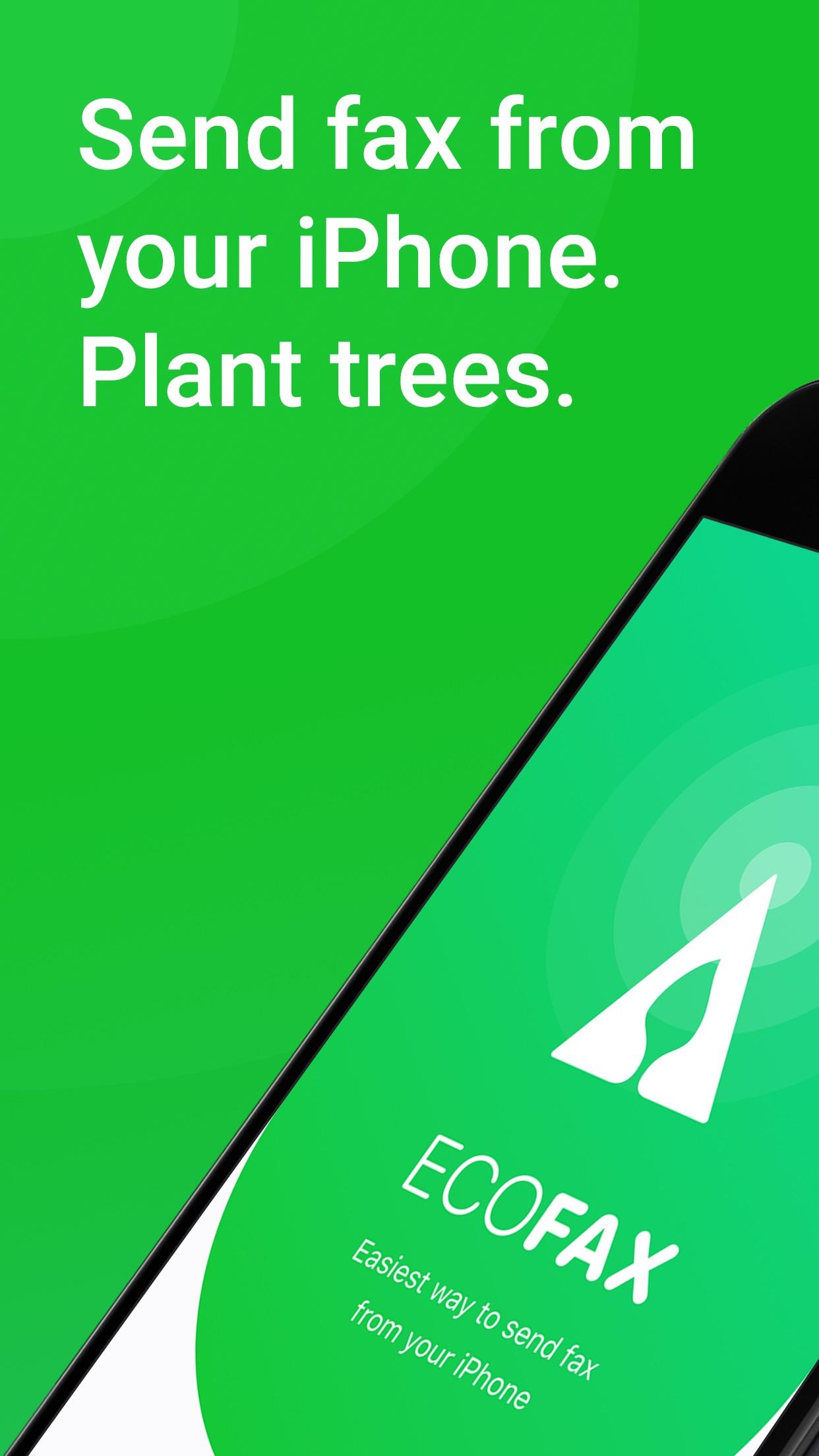 Screenshot do app EcoFax - send fax from iPhone