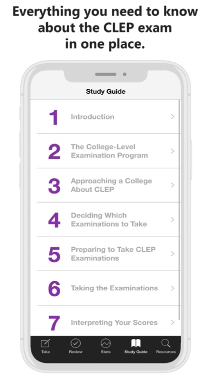 Official CLEP Study Guide App