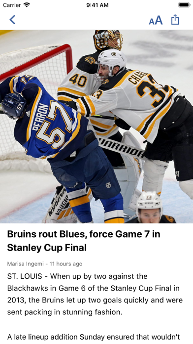 Boston Headline Sports Screenshot