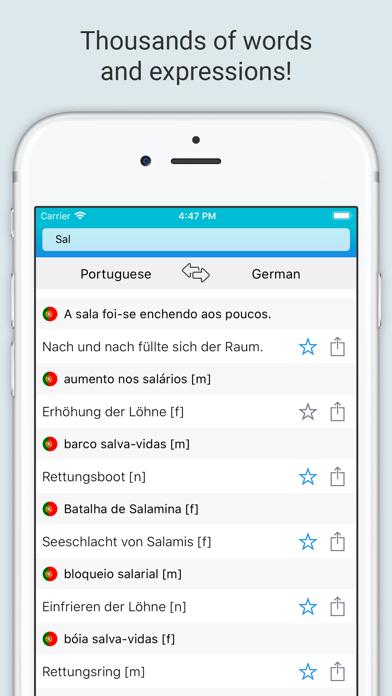German-Portuguese Dictionary + screenshot 2