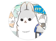 Rabbit Moji Pun Funny Stickers