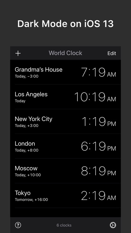 World Clock — Time Zone Widget screenshot-4