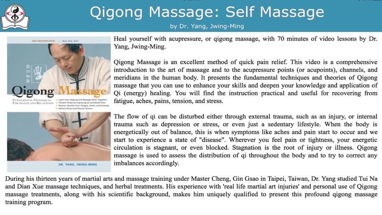 Qigong Massage: Self Massage