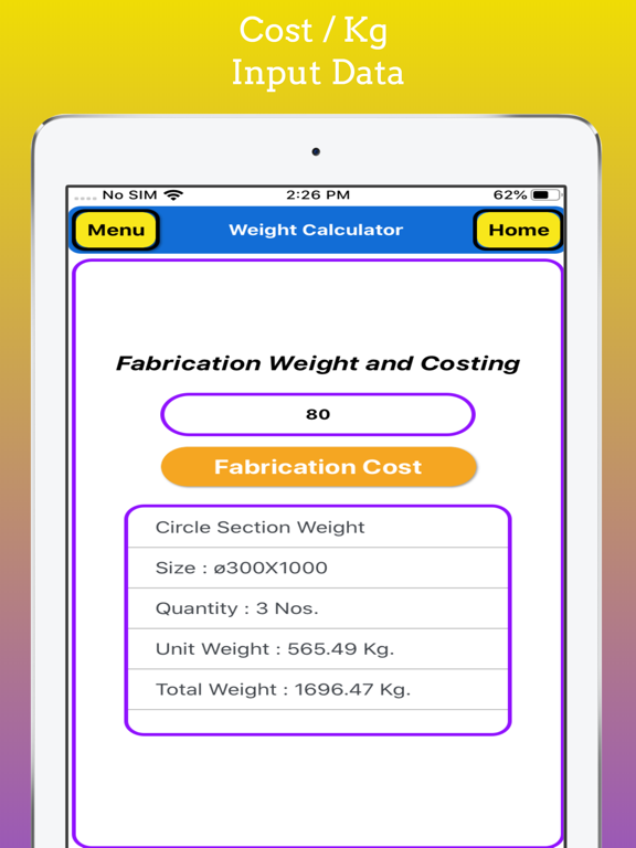 Fabrication Weight Calc Pro screenshot 15
