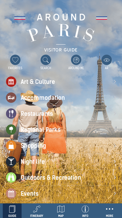 Around Paris - travel app