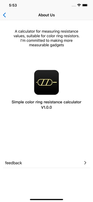 Ring resistance on the App Store