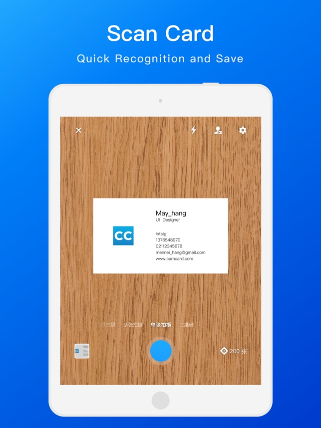 Camcard Business Card Scanner Im App Store