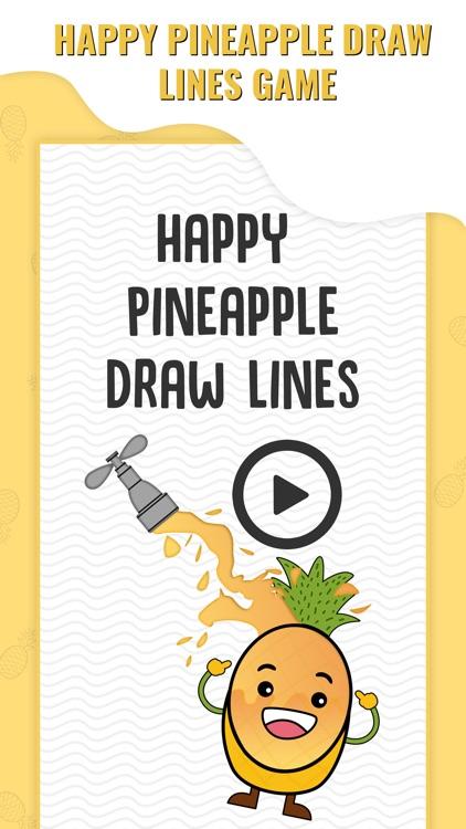 Happy Pineapple Draw Line
