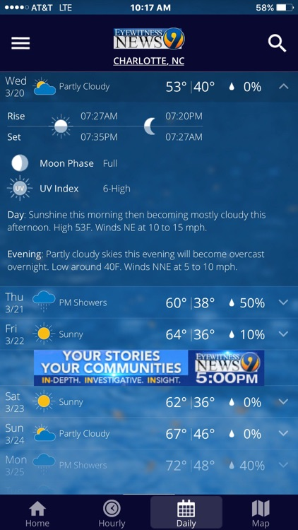 WSOC-TV Channel 9 Weather App by Cox Media Group