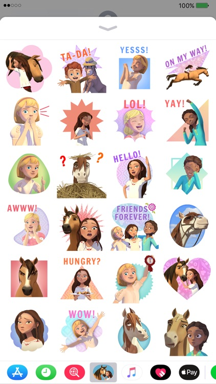 Spirit Riding Free Stickers