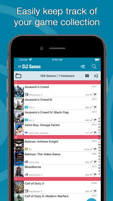 Screenshot #1 pour CLZ Games - Game Database