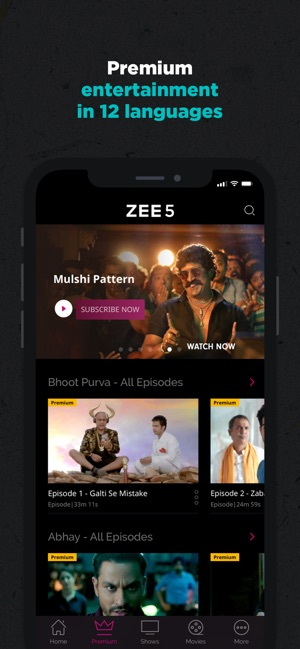 ZEE5 - Shows Live TV & Movies on the App Store