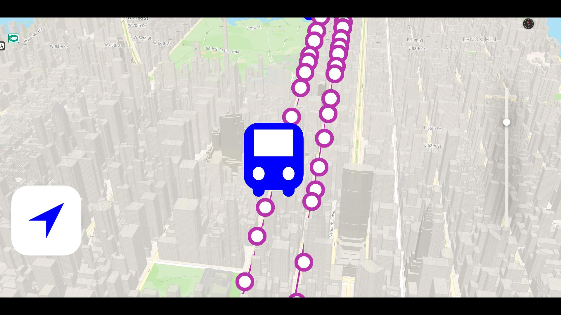 Bus NYC in 3D City View Lite screenshot 13