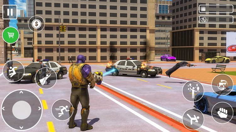 Miami Rope Hero Gangstar screenshot-3