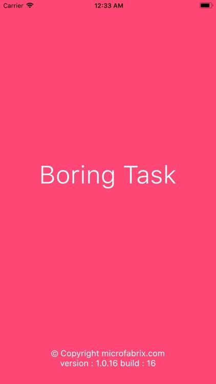 Boring Task