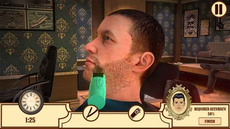 Barber Shop Hair Saloon Sim 3D screenshot-3