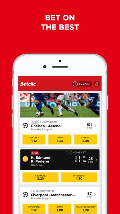 Betclic – Live Sports Betting screenshot one